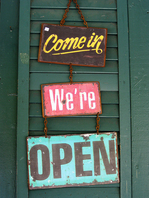 Come in, we're open!